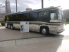 Johnny Cash Tour Bus in which he toured with his band. Now it is situated in Cleveland near the Rock and Roll Hall of Fame. November 2011